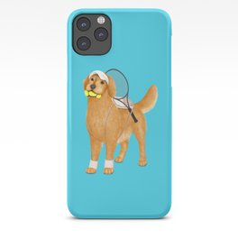 Ready for Tennis Practice (Blue) iPhone Case