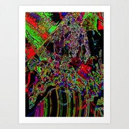 electric volcano Art Print