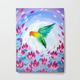 Lovebird phone cover Metal Print