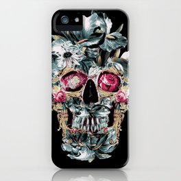 Skull on Black iPhone Case