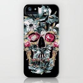 Skull on Black iPhone Case