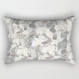 des Königs Blau Rectangular Pillow