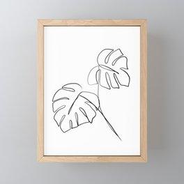 Monstera minimal Framed Mini Art Print