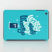 risa rodil iPad Cases featuring Wibbly Wobbly Timey Wimey by Risa Rodil
