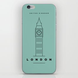 Minimal London City Poster iPhone Skin