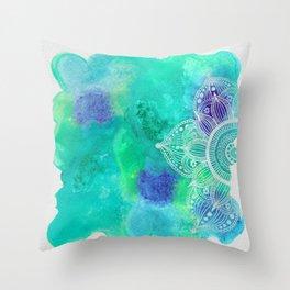 Ice Mandala Throw Pillow
