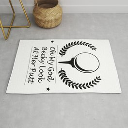 Look At Her Putt Golf Funny Gifts Rug