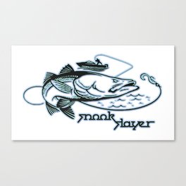 Snook Slayer Outdoors Fishing Design Canvas Print