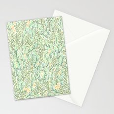 Green and Yellow Leaves Stationery Cards