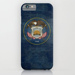 Utah State Flag, vintage retro style iPhone Case
