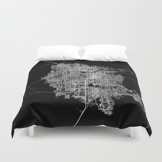 Las Vegas map Duvet Cover
