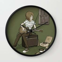 April in Garageville Wall Clock