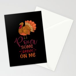 Pour Some Gravy Turkey Thanksgiving Family Party Stationery Cards