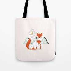Fox in the mountain Tote Bag