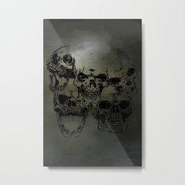 Dark abstract skull Metal Print