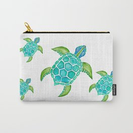 Watercolor Sea Turtle Carry-All Pouch
