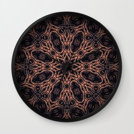 Autumn Equinox // Witch Season Magical Rustic Earthy Dark Black Witchy Star Energy Winter Wall Clock