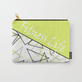 The fitness club . Sport . Lemon white creative sport pattern . Carry-All Pouch