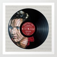 elvis presley Art Prints featuring Elvis Presley by Melissa Jane