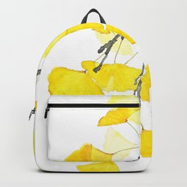 Golden Ginkgo Leaves Backpack