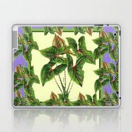 Green Tropical Botanical Foliage  Lilac-Black Art Laptop & iPad Skin