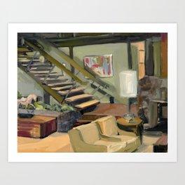 A Very Brady 70's Living Room Art Print