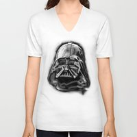 darth vader V-neck T-shirts featuring Darth by Creadoorm