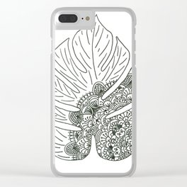 Tropical Serenity Clear iPhone Case