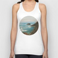 oregon Tank Tops featuring Oregon Coast by Leah Flores