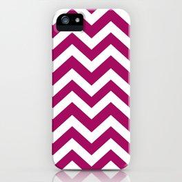 Jazzberry jam - violet color - Zigzag Chevron Pattern iPhone Case