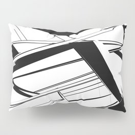 History of Art in Black and White. Futurism Pillow Sham