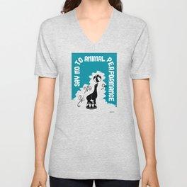 Say NO to Animal Performance – Seal Unisex V-Neck