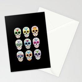 Nine skulls Stationery Cards