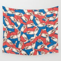 popsicle Wall Tapestries featuring Puglie Popsicle by Puglie Pug