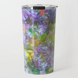 Impressionate Wisteria painting Travel Mug