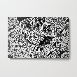 Scribblings Metal Print