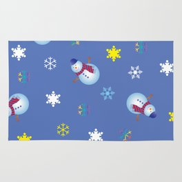 Snowflakes & Snowman_C Rug