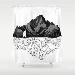 Mountains Bear Shower Curtain