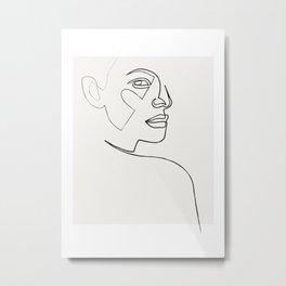 lost - line face - pastel Metal Print