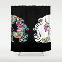 girls Shower Curtains featuring girls by myepicass