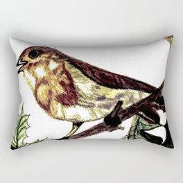 The Singing Bird Rectangular Pillow