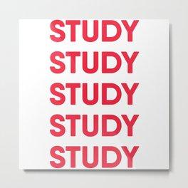 Study Motivation Pattern Metal Print