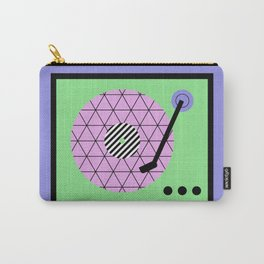 Play That Retro Geometric Vinyl Carry-All Pouch