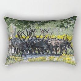 Reindeer in Nature Rectangular Pillow