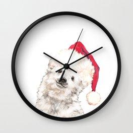 Christmas Baby Polar Bear Wall Clock