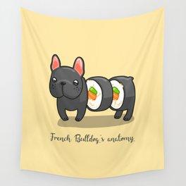 French bulldog maki sushi Wall Tapestry