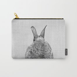 Rabbit Tail - Black & White Carry-All Pouch