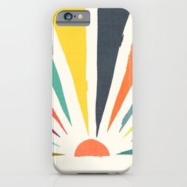 Rainbow ray iPhone Case