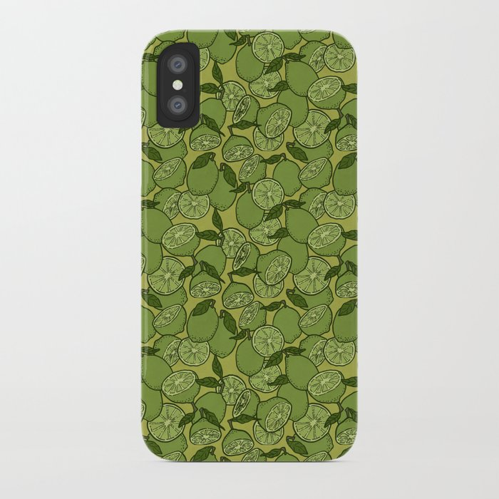 Lime Greenery iPhone Case