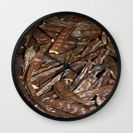 Harvested Carob Pods - Haripur Wall Clock